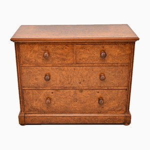 Antique Victorian Burl Walnut Dresser from James Shoolbred