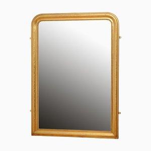 Wandspiegel mit vergoldetem Rahmen, 19. Jh.