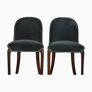 Antike viktorianische Stühle aus Nussholz, 2er Set