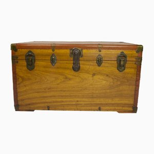 Antique Camphor and Wood Trunk