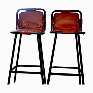Industrial Bar Stools, 1950s, Set of 2