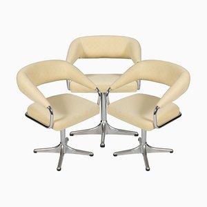 Italienischer Sessel mit verchromtem Stahlgestell, 1960er
