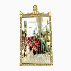 Antique Green and Gold Mirror