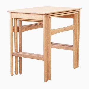 Tables Gigognes Modèle AT-40 par Hans J. Wegner pour Andreas Tuck, 1950s
