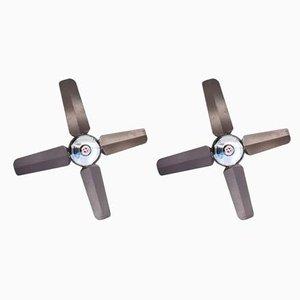 Ventilatori da soffitto vintage, set di 2