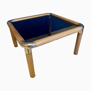 Table Basse Vintage en Verre Fumé par Rodney Kinsman pour Ronald Schmitt