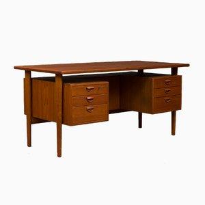 Teak Desk by Kai Kristiansen for Feldballes Møbelfabrik, 1960s