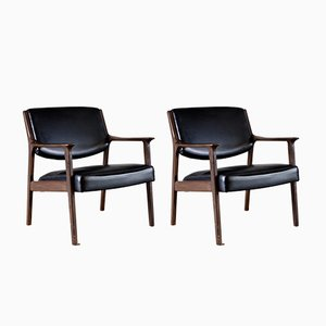 Mid-Century Danish Easy Chairs, Set of 2