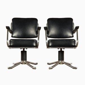 Chaises de Bureau Pivotantes Mid-Century, Set de 4