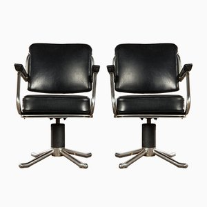 Mid-Century Barber Stool Swivel Chairs, Set of 4