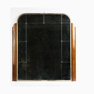 Großer französischer Art Déco Spiegel, 1930er
