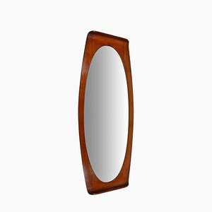 Mid-Century Teak Plywood Mirror by Campo e Graffi for Home Torino