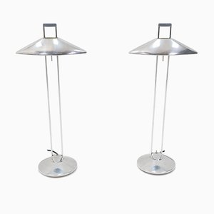 Aluminum Table Lamps by Jorge Pensi for B-Lux, 1980s, Set of 2