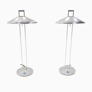 Lampade da tavolo in alluminio di Jorge Pensi per B-Lux, anni '80, set di 2