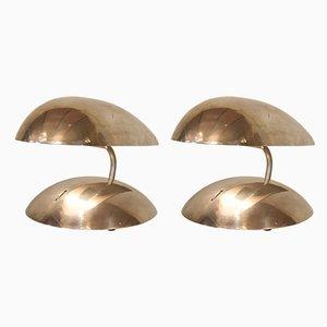 Space Age Tischlampen aus Aluminium, 1980er, 2er Set