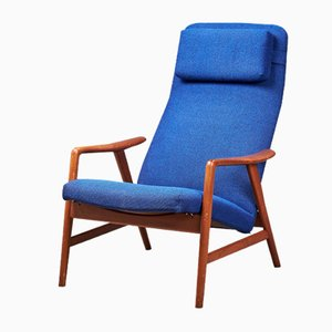 Mid-Century Danish Adjustable Lounge Chair by Alf Svensson, 1960s
