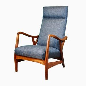 Danish Teak High Back Armchair, 1960s