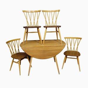 Esstisch & Stühle Set von Lucian Ercolani für Ercol, 1960er, 5er Set