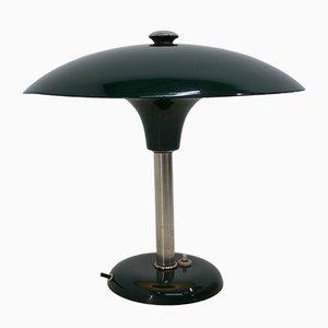 Lámpara de mesa Art Déco en verde de Max Schumacher, años 30