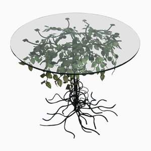 Italian Wrought Iron Tree Coffee Table, 1960s