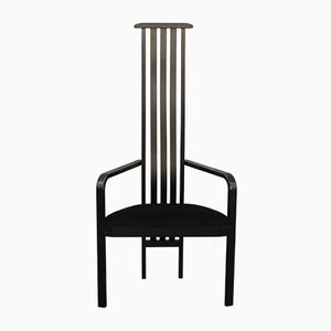 Italian Black Side Chair by Vico Magistretti for Poggi, 1980s