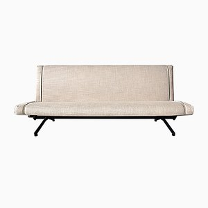 Elfenbeinfarbenes italienisches Modell D70 Sofa von Osvaldo Borsani für Tecno, 1950er