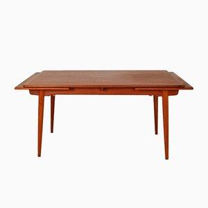 Tavolo da pranzo AT312 in teak e quercia di Hans J. Wegner per Andr Tuck, anni '50