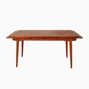 Teak and Oak Model AT312 Dining Table by Hans J. Wegner for Andr Tuck, 1950s