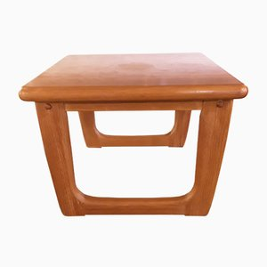 Vintage Danish Solid Teak Square Coffee Table from Niels Bach, 1970s