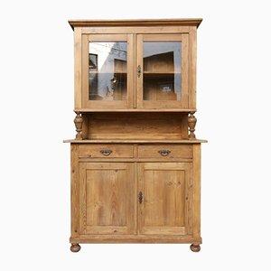 Antiker Küchenschrank aus Weichholz