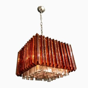 Mid-Century Murano Glass Prism Chandelier by Paolo Venini, 1970s