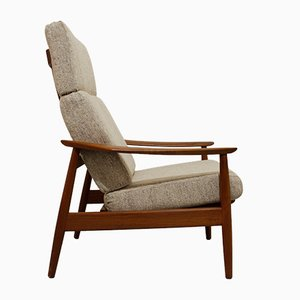 Mid-Century Model FD-164 Teak Lounge Chair by Arne Vodder for Cado