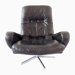 Black Leather Model S231 Lounge Chair from de Sede, 1960s