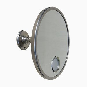Art Deco French Nickel Wall Mirror from Brot, 1920s