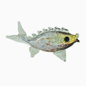 Scultura a forma di pesce in vetro di Murano, anni '60