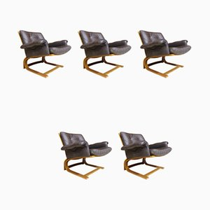 Armchairs by Elsa & Nordahl Solheim for Rybo Rykken & Co, 1970s, Set of 5