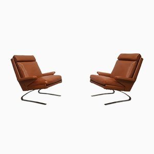 Leather Swing Lounge Chairs by Reinhold Adolf for Cor, 1960s, Set of 2