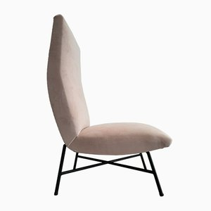 French Club Chair by Genevieve Dangles-Christian Defrance, 1950s