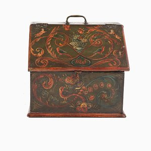 Antique Painted Wooden Box, 1808