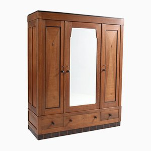 Art Deco Dutch Oak Wardrobe, 1920s