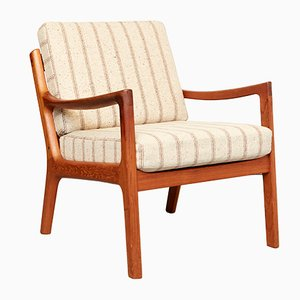 Mid-Century Model T Senator Lounge Chair by Ole Wanscher for Cado, 1970s