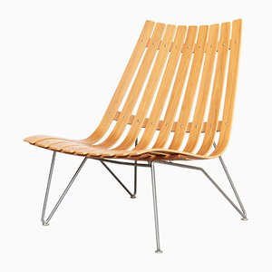 Mid-Century Lounge Chair by Hans Brattrud for Fjordfiesta, 1950s