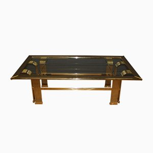 Gilded Metal Coffee Table, 1970s