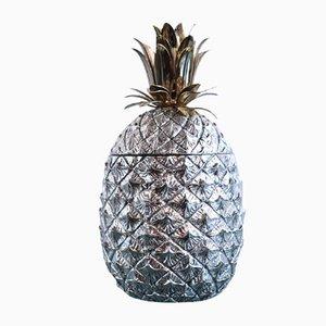 Secchiello per il ghiaccio a forma di ananas di Mauro Manetti per Fonderia d'Arte, anni '50