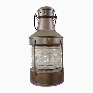 Lámpara de mesa a partir de farol náutico Mid-Century grande