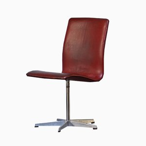 Danish Model Oxford Swivel Chair by Arne Jacobsen for Fritz Hansen, 1960s