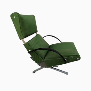 Model P40 Green Armchairs by Osvaldo Borsani for Tecno, 1950s, Set of 2