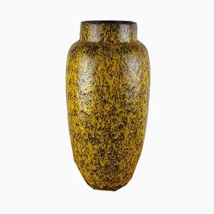 Grand Vase Fat Lava Jaune Mid-Century de Scheurich, années 70