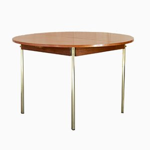 Teak & Brass Dining Table, 1950s