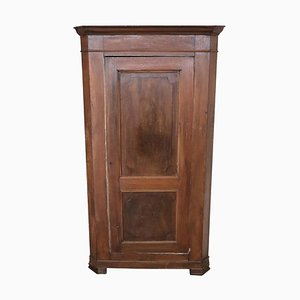 Antique Solid Walnut Corner Cabinet, 1850s